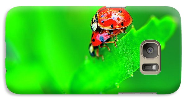 Galaxy Case featuring the photograph Love Bugs by Sharon Talson