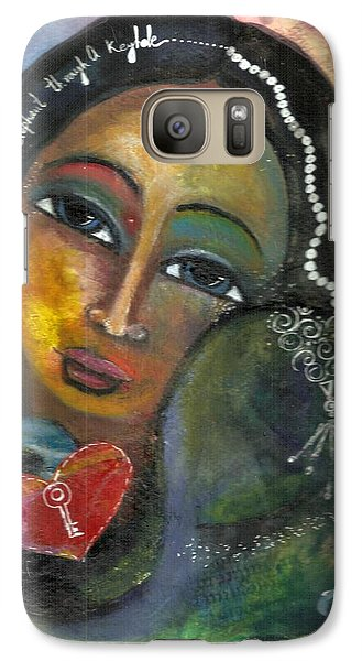 Galaxy Case featuring the painting Love Can Draw An Elephant Through A Key Hole by Prerna Poojara