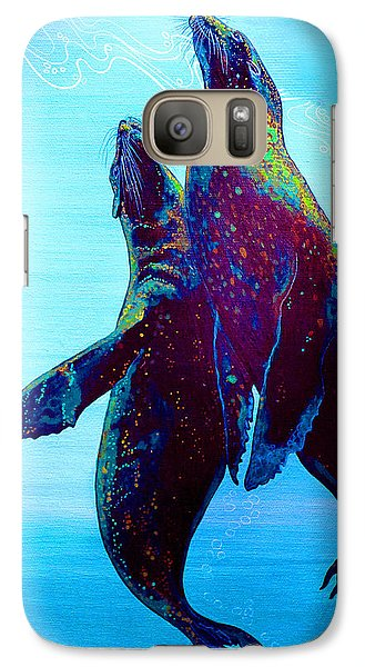 Galaxy Case featuring the painting Pure Love by Debbie Chamberlin