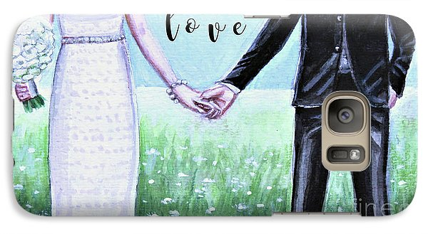 Galaxy Case featuring the painting Love by Elizabeth Robinette Tyndall