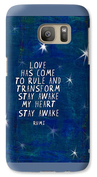 Galaxy Case featuring the painting Love Has Come by Lisa Weedn