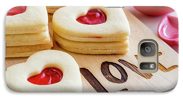 Galaxy Case featuring the photograph Love Heart Cookies by Teri Virbickis