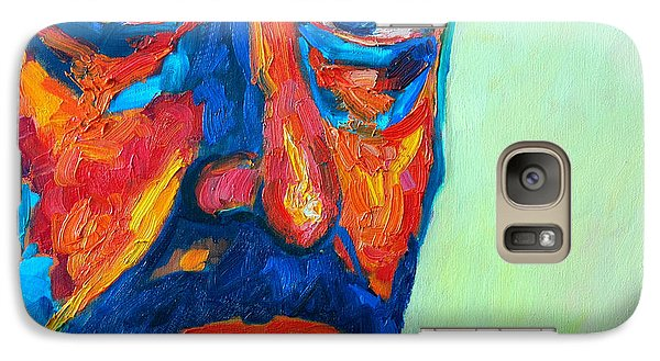 Galaxy Case featuring the painting Love Him So Much by Ana Maria Edulescu