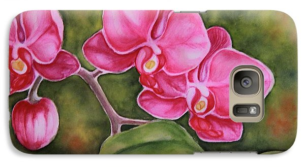 Galaxy Case featuring the painting Love In Pink by Inese Poga
