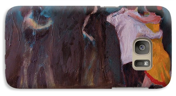 Galaxy Case featuring the painting Love In The Spotlight by Keith Thue