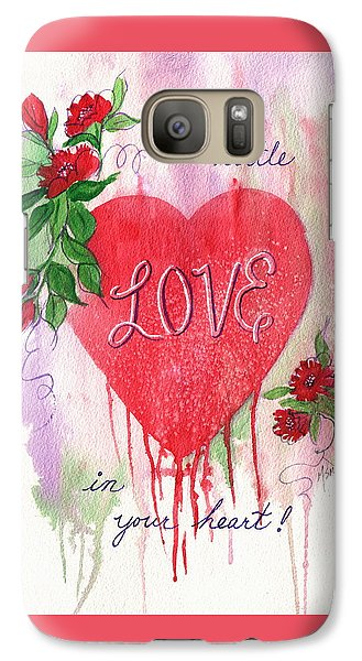 Galaxy Case featuring the painting Love In Your Heart by Marilyn Smith