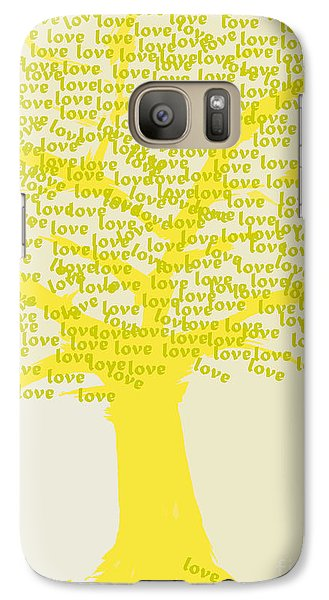 Galaxy Case featuring the painting Love Inspiration Tree by Go Van Kampen