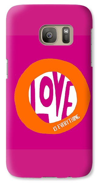Galaxy Case featuring the painting Love Is Everything by Lisa Weedn