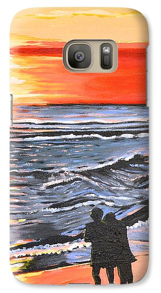 Galaxy Case featuring the painting Love Is In The Air by Donna Blossom