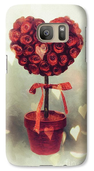Galaxy Case featuring the digital art Love Is In The Air by Lois Bryan