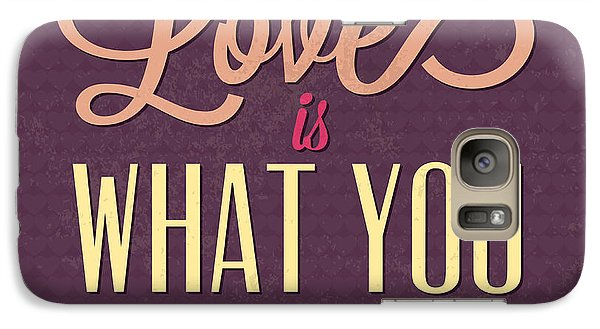 Love Is What You Need Galaxy Case by Naxart Studio