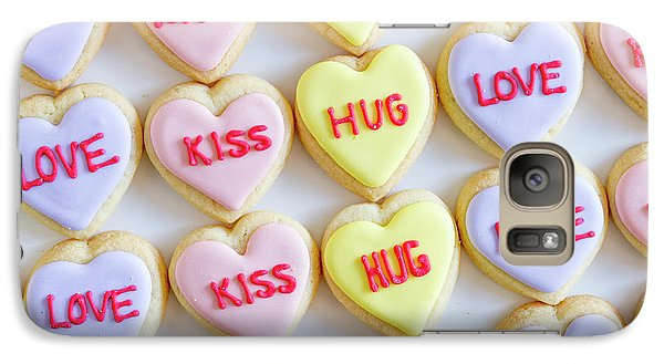 Galaxy Case featuring the photograph Love Kiss Hug Heart Cookies by Teri Virbickis