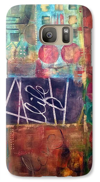 Galaxy Case featuring the mixed media Love Life by Shelley Bain