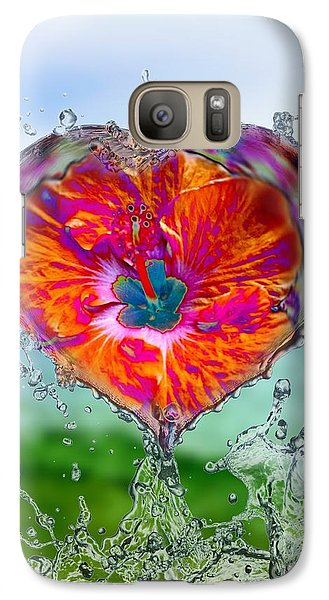 Love Makes A Splash Galaxy S7 Case
