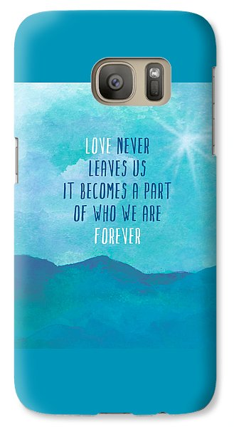 Galaxy Case featuring the painting Love Never Leaves by Lisa Weedn