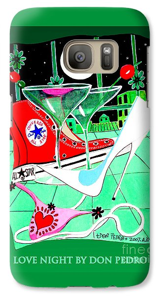 Galaxy Case featuring the painting Love Night by Don Pedro De Gracia