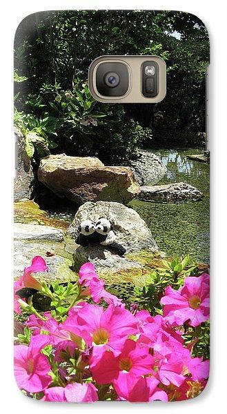 Galaxy Case featuring the photograph Love On The Rocks- Los Angeles- Pandas by Ausra Huntington nee Paulauskaite