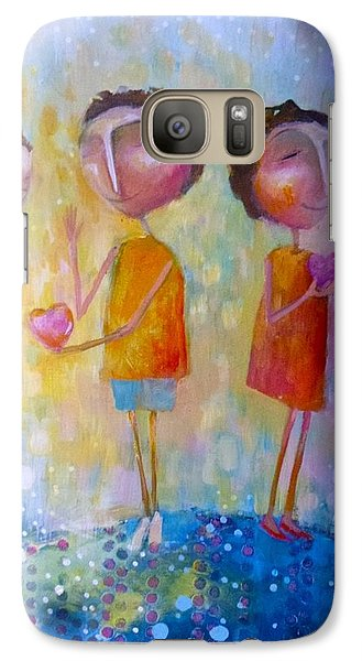 Galaxy Case featuring the painting Love One Another by Eleatta Diver