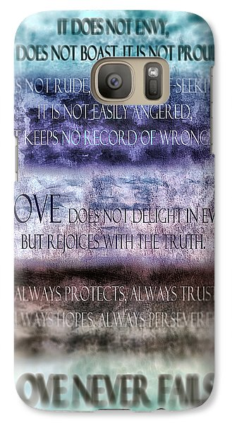 Galaxy Case featuring the digital art Love Rejoices With The Truth by Angelina Vick