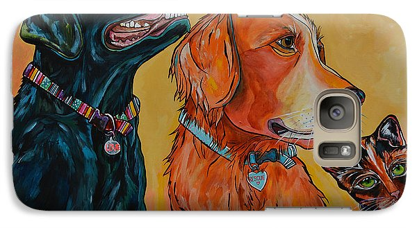 Galaxy Case featuring the painting Love Rescue Spay by Patti Schermerhorn