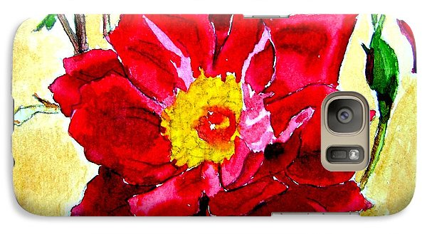 Galaxy Case featuring the painting Love Rose by Ana Maria Edulescu