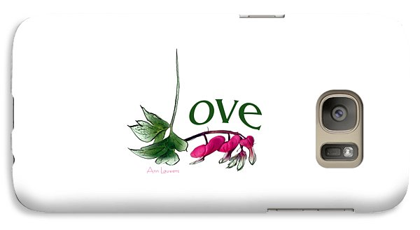 Galaxy Case featuring the digital art Love Shirt by Ann Lauwers