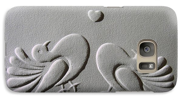 Galaxy Case featuring the relief Love by Suhas Tavkar