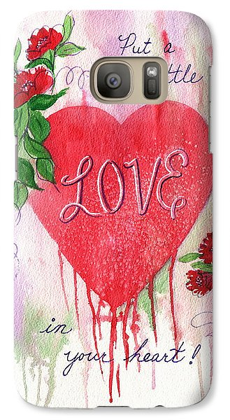 Galaxy Case featuring the painting Love Valentine by Marilyn Smith