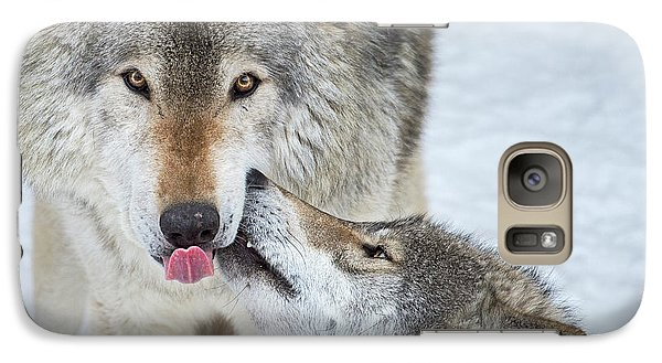 Galaxy Case featuring the photograph Love You Dad.. by Nina Stavlund