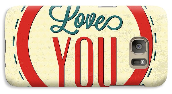 Love You Forever Galaxy Case by Naxart Studio
