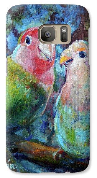 Lovebird Galaxy S7 Case - Lovebirds by Tom Dauria