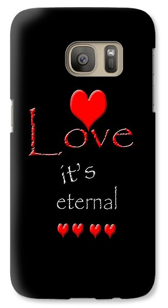 Galaxy Case featuring the photograph Love....its Eternal by Cherie Duran