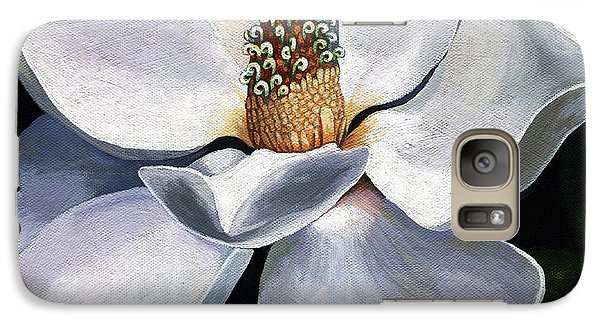 Galaxy Case featuring the painting Lovely In White - Painting Magnolia Flower  by Linda Apple
