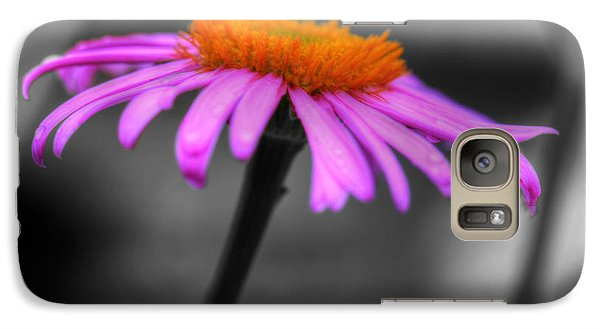 Galaxy Case featuring the photograph Lovely Purple And Orange Coneflower Echinacea by Shelley Neff