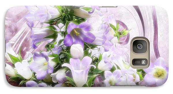 Galaxy Case featuring the mixed media Lovely Spring Flowers by Gabriella Weninger - David