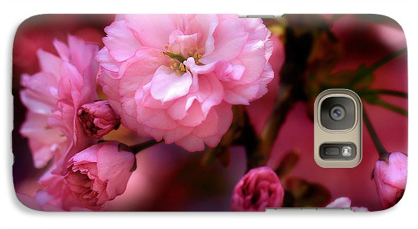 Galaxy Case featuring the photograph Lovely Spring Pink Cherry Blossoms by Shelley Neff