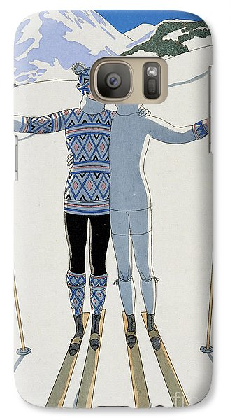 Mountain Galaxy S7 Case - Lovers In The Snow by Georges Barbier