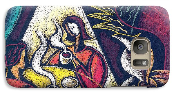 Galaxy Case featuring the painting Loving Relationship by Leon Zernitsky