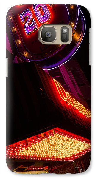 Galaxy Case featuring the photograph Low Angle Neon Signs At Night In North Beach San Francisco by Jason Rosette