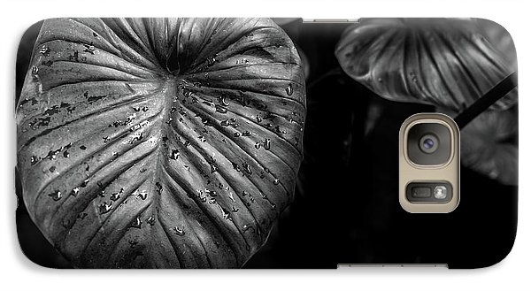 Galaxy Case featuring the photograph Low Key Nature Background, Textured Plants, Leaves For Decorativ by Jingjits Photography