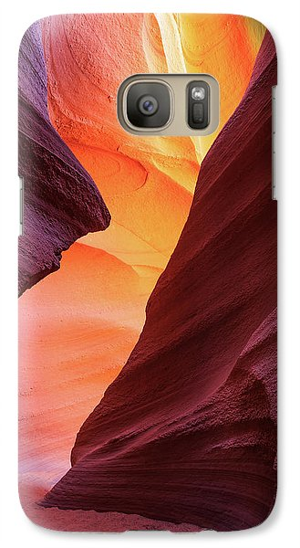 Galaxy Case featuring the photograph Lower Antelope Canyon by Johnny Adolphson