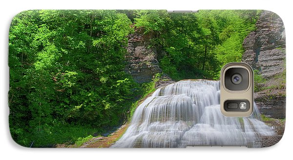 Galaxy Case featuring the photograph Lower Falls 0485 by Guy Whiteley