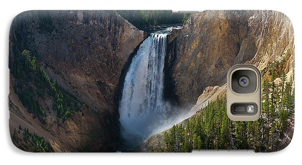 Galaxy Case featuring the photograph Lower Falls Of Yellowstone River by Roger Mullenhour