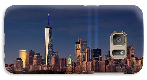 Galaxy Case featuring the photograph Lower Manhattantribute In Light by Emmanuel Panagiotakis