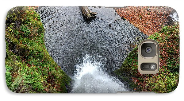 Galaxy Case featuring the photograph Lower Multnomah Falls From Benson Bridge - Columbia Gorge by Gary Whitton