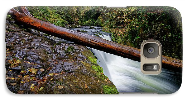 Galaxy Case featuring the photograph Lower Punch Bowl Falls by Jonathan Davison