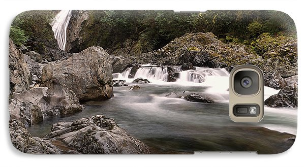 Galaxy Case featuring the photograph Lower Twin Falls by Jeff Swan