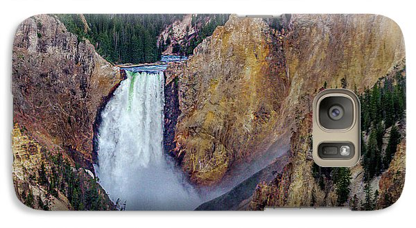 Galaxy Case featuring the photograph Lower Yellowstone Falls II by Bill Gallagher