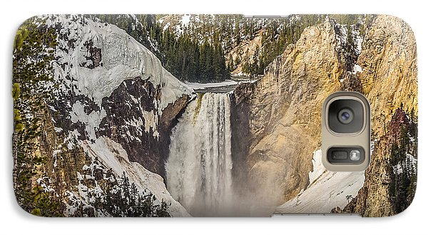 Galaxy Case featuring the photograph Lower Yellowstone Falls In Winter by Yeates Photography
