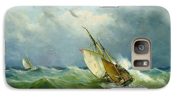 Lowestoft Trawler In Rough Weather Galaxy S7 Case